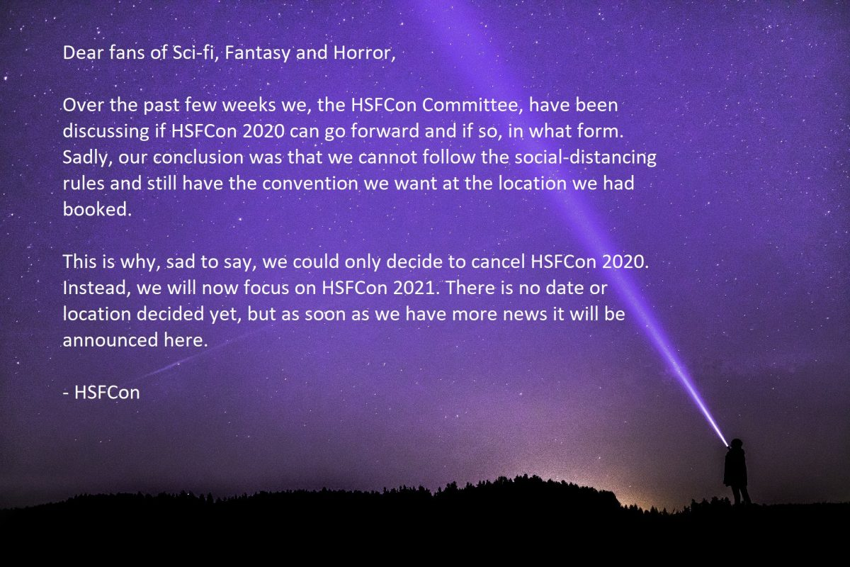 Cancellation HSFCon 2020