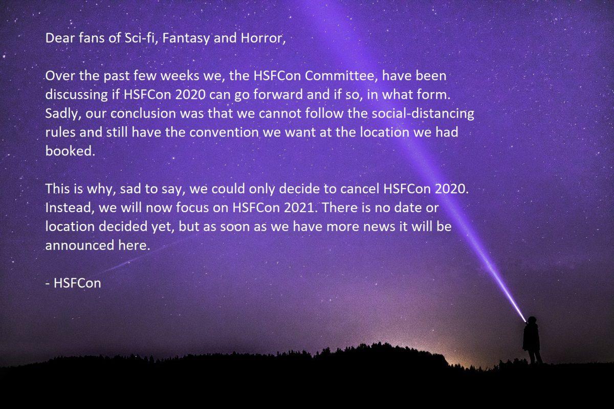 Cancellation HSFCon 2020