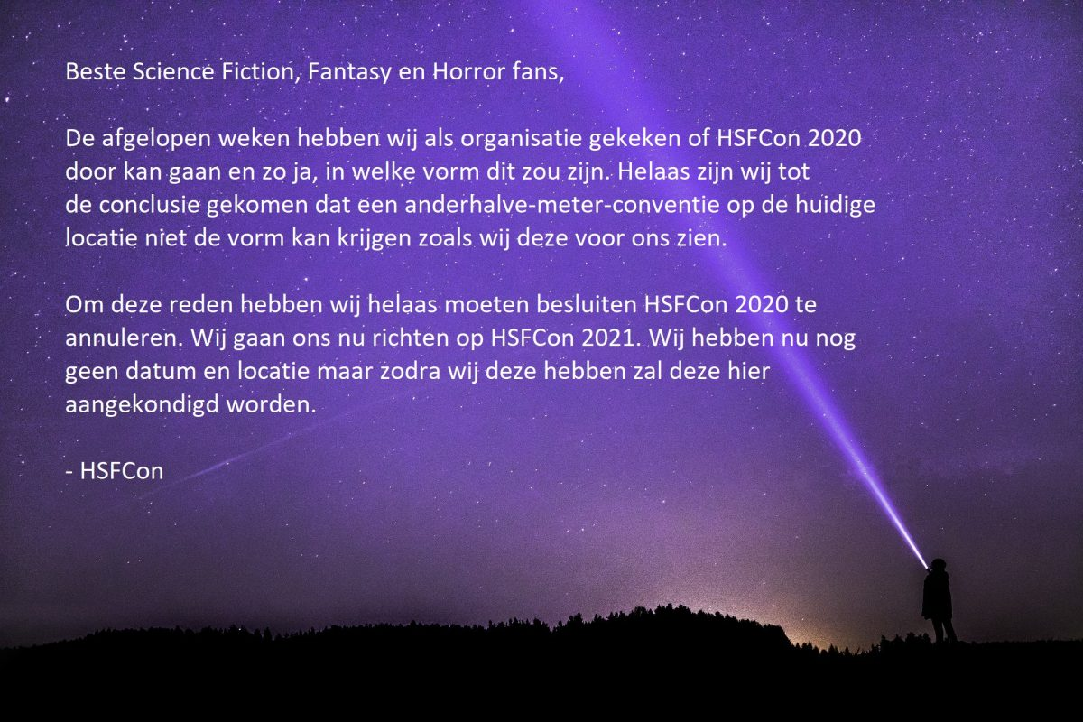 Annulering HSFCon 2020